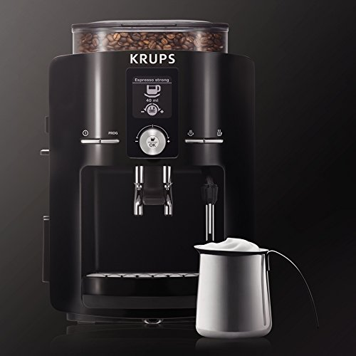 KRUPS 8000033681 EA8250 Fully Automatic Espresso Maker, Large, Piano Black
