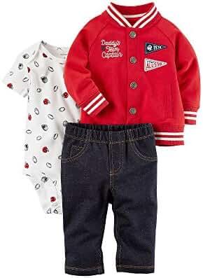 Carter's Baby Boys' 3 Piece Handsome Divsion Little Varsity Jacket Set