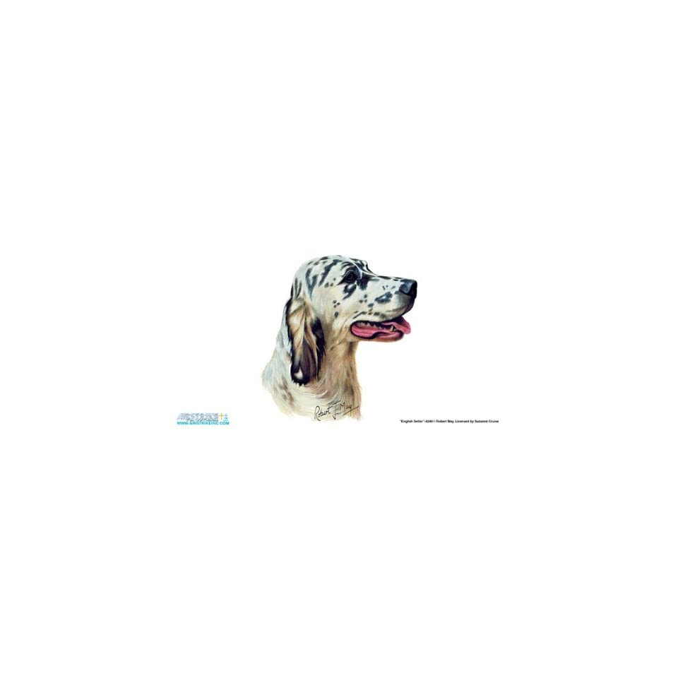 4248 English Setter Dog License Plate Car Auto Novelty Front Tag by Robert J. May from Airstrike