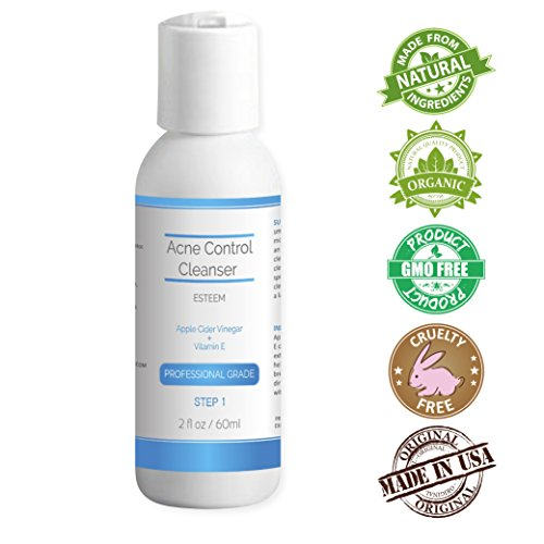 Natural & Organic Proactive Acne Control Cleanser & Face Wash + Apple Cider Vinegar with Vitamin E for adults & teens. Best treatment for adult & teen acne prone skin. Get rid of dirt, oil & makeup.