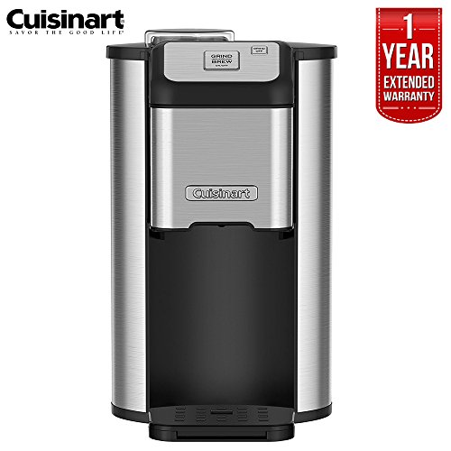 Cuisinart DGB-1FR Single Cup Grind and Brew Ground Coffee Maker (Renewed) with 1 Year Extended Warranty