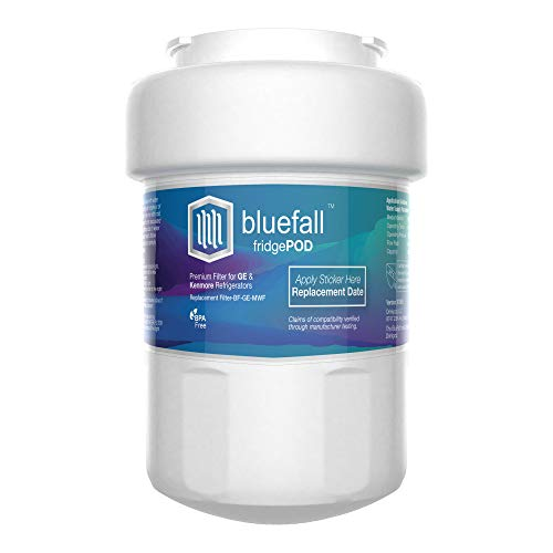 - BLUEFALL GE MWF Refrigerator Water Filter Smartwater Compatible Cartridge