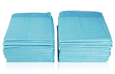 "REMEDIES Disposable Underpad 150 Count Soft Fluff Fill (3 Packs of 50), 23"" X 36"", 45g"