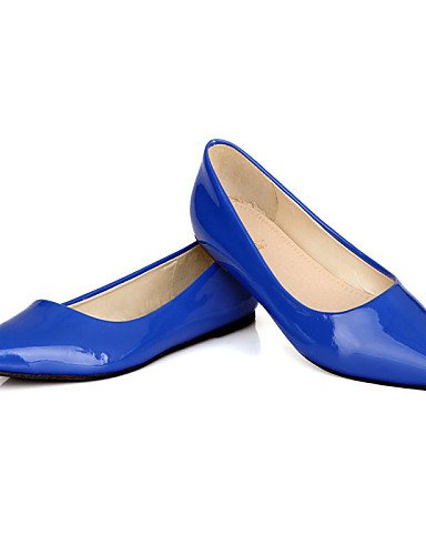 para piel charol shangyi bailarinas Vestido puntiaguda Azul LÄSSIG Zapatos damas plano planas Amarillo mujer Zehe Oficina guantes Verde cerrados Negro Guantes tacón negro negro wfYE0qf