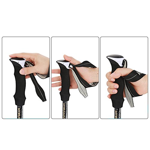 Ultralight(8oz) Retractable Trekking Poles Carbon Fiber Walking/Hiking/Climbing Trail Sticks Collapsible 5 Section Adjustable Long 110cm to 135cm for Men Women with Quick Lock&Anti-shock Tech