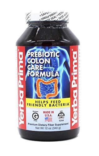Yerba Prima Prebiotic Colon Care Formula Fiber Powder, 12 ounce