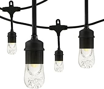 Enbrighten Café LED String Lights (18 ft.), 9 Lifetime Bulbs, Premium, Weatherproof, Shatterproof, Commercial Grade, 2-Pack