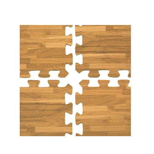 Interlocking Wood Effect Mats Eva Soft Foam Exercise Floor Gym Office Mat Puzzle by unbrand (Image #3)
