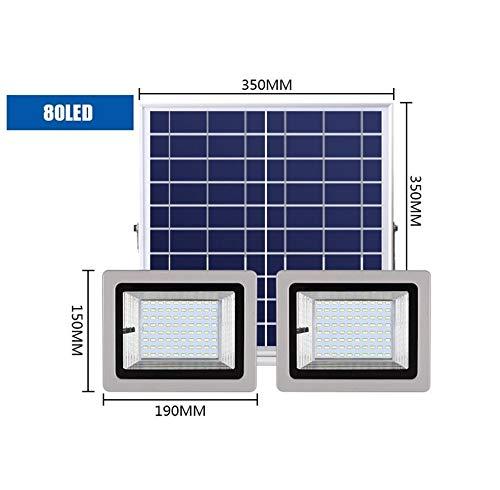 Q-fo Focos Proyector Solar LED Exteriores, Jardín Luces De ...