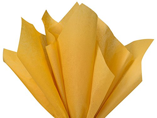 Noble Gold Dark Yellow 120 Sheets - Gift Wrapping Tissue Paper 15' x 20' | Colors of Rainbow