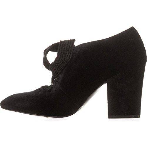 Sweeorn Black Black Suede Fabric Black Suede West Women's Black Nine AqE8gfTEw