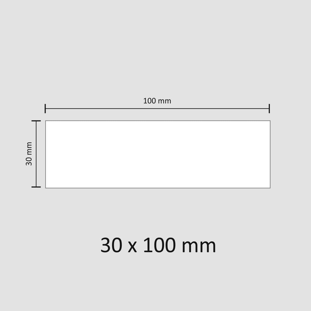 50 beschreibbare Magnet Etiketten I 10 x 3 cm I weiß Magstick®