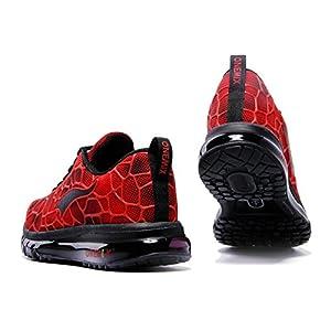 Onemix Men's Lightweight Air Cushion Sport Running Shoes Red Black Size 12