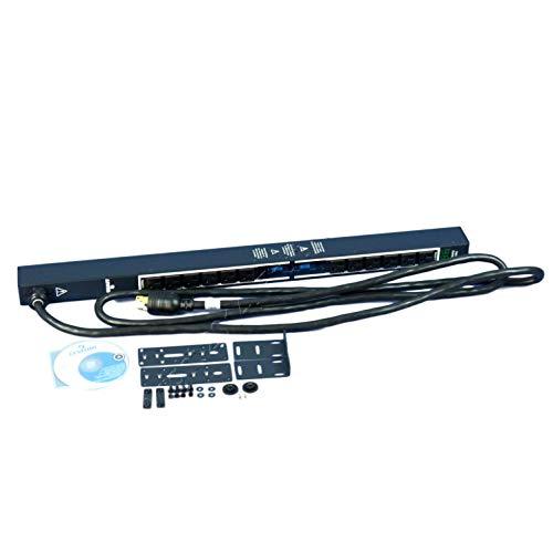 Leviton MV121-1B1 120V 30A Metered Intelligent 12 Outlet Vertical 1U Rack Server Power Distribution PDU