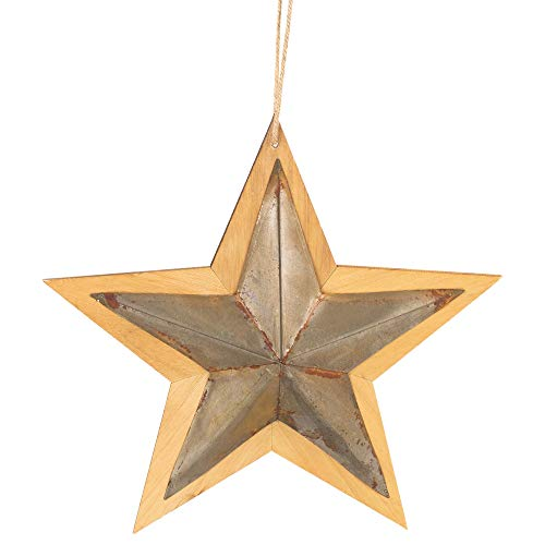tal Star on Wood 13.5 x 13.5 Christmas Ornament Figurine ()