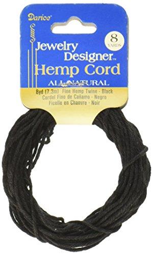 - Darice 8 Yard Fine Hemp Cord, black