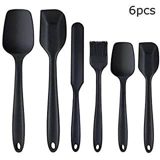 Silicone Spatula Heat Resistant Kitchen Spatulas for Non Stick Cooking and Baking, Seamless One Piece, Flexible Spatula, Dishwasher Safe, Rubber Spatula Set of 6