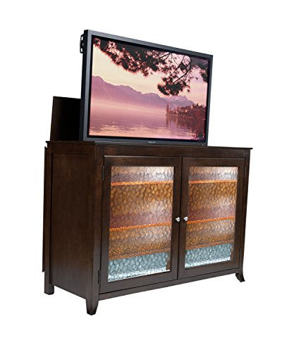 Touchstone 70065 - Carmel TV Lift Cabinet (Espresso) - Up to 60 Inch TVs Diagonal (55 In Wide) - Contemporary Style Motorized TV Cabinet - Pop Up TV Cabinet With Memory Feature, IR/RF, 12V Trigger - Motorized Tv Console