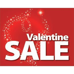 Valentineu0027s Day Sale Signs 7 X 5 1/2 (L X H) Cards