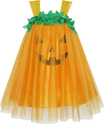 Best Sunny Fashion Dresses For Girls - Girls Dress Pumpkin Tulle Party Dress