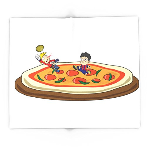 Society6 Soccer Pizza 88'' x 104'' Blanket by Society6