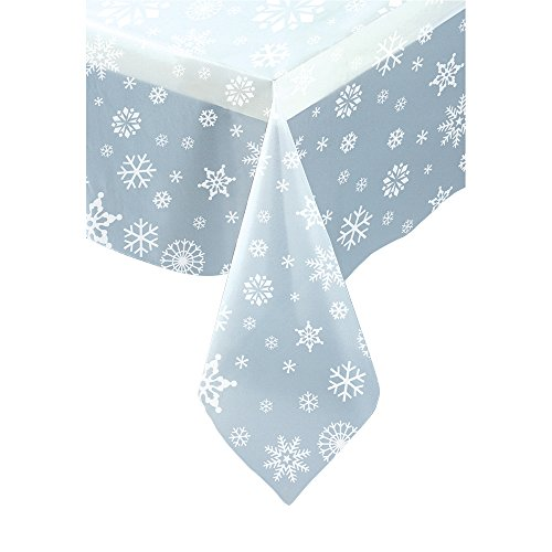 Snowflake Plastic Tablecloth