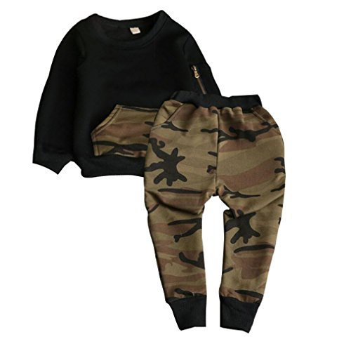 Toddler Camouflage Pullover Outfits Clothes
