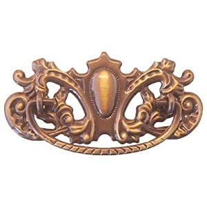 p 27ab ornate victorian antiqued brass drawer pull handle antique cabinet desk or any vintage. Black Bedroom Furniture Sets. Home Design Ideas