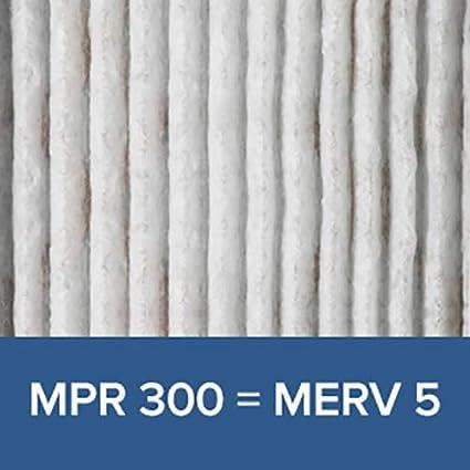 6-Pack Clean Living Basic Dust AC Furnace Air Filter MPR 300 Filtrete 20x25x1