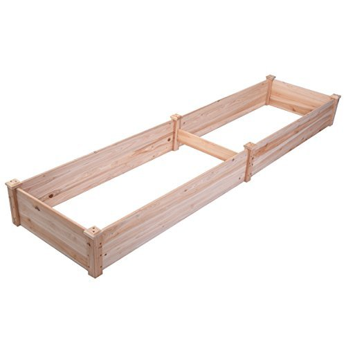 Vegetable Raised Garden Wooden Bed Patio Backyard Grow Flowers Plants Planter for planting