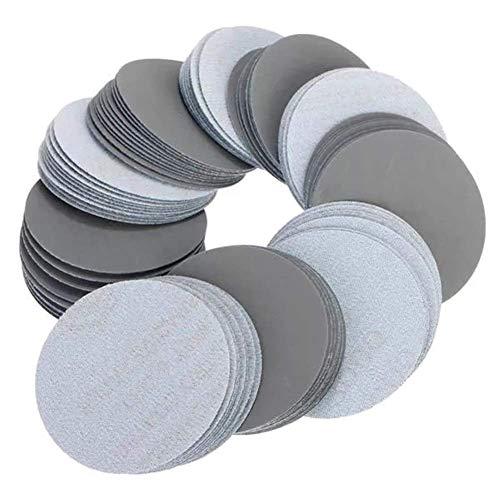 Honana 研磨剤の100pcs 3インチ3000接着剤混合グリットサンディング研磨紙やすりグリットサンディングディスクセルフツール 研磨工具