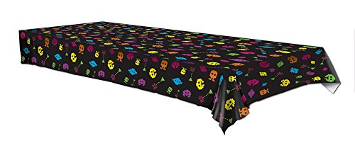 Plastic Tablecover 80s Video game Party Buffet Retro Tablecloth by Beistle