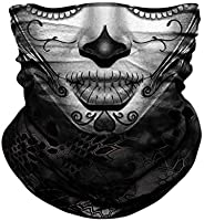 Seamless Neck Gaiter Shield Scarf Bandana Face Mask Seamless UV Protection for Motorcycle Cycling Riding Runni