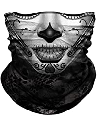 Dust Protection Breathable Bandana Balaclava Neck Gaiter Headwear Face Cover for Saliva 2 Pcs with 10Pcs Filters Hepa Headbands Washable Half Face Scarf Outdoors for Women