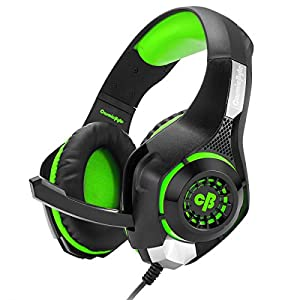 Cosmic Byte GS410 Headphones with Mic and for PS5, PS4, Xbox One, Laptop, PC, iPhone and Android Phones (Black/Green)