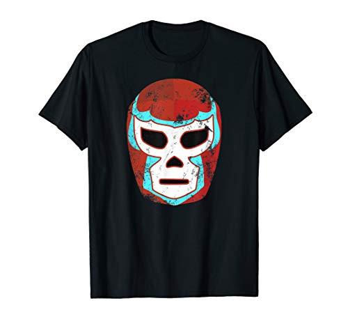 Wrestling Lucha Libre Luchador Mask Retro Throwback T Shirt]()