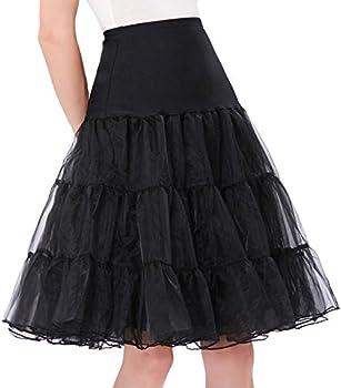 GRACE KARIN Women's 50s Vintage Petticoat Plus Size