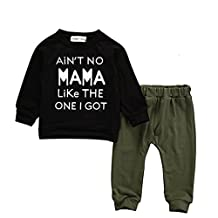 Baby Kids Toddler Boy Printed Tops Pants Leggings Outfits Clothes Set 0-3 Y (2-3 Years, Black)