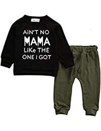 Baby Kids Toddler Boy Printed Tops Pants Leggings Outfits...