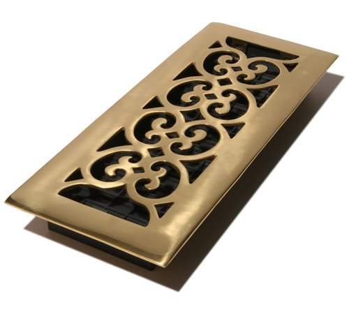 Decor Grates Hs412 4 Inch By 12 Inch Scroll Floor Register