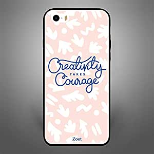 iPhone 5/ 5s/ SE Case Cover Creativity Takes Courage, Zoot Original Design Phone Cases & Covers