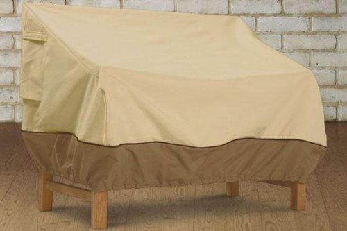Home Decorators Collection Veranda Patio Loveseat Cover, Medium, PBBL Earth BARK