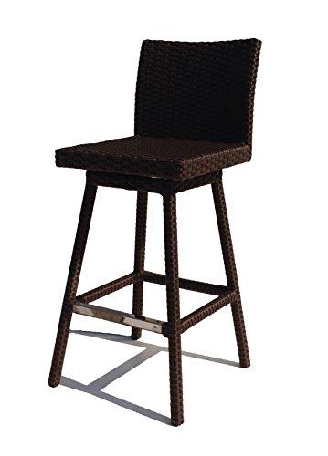 Sonoma Outdoor Furniture (Wicker Paradise Sonoma Outdoor Wicker Swivel Bar Stool, Mocha Finish)