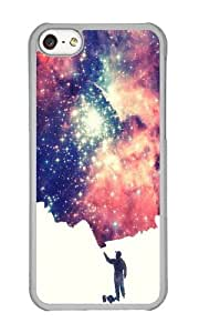 Apple Iphone 5C Case,WENJORS Cute Painting the universe Hard Case Protective Shell Cell Phone Cover For Apple Iphone 5C - PC Transparent