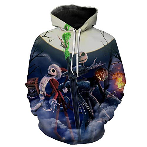 63aa8d4ba7400 Vililiser Skull Ghost Halloween Hoodie Men Women Long Sleeve Autumn Winter  Pullover XL