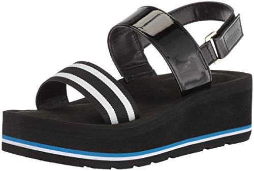 Wedge Hilfiger Women's Sandal Black Essia Tommy q67PwURS