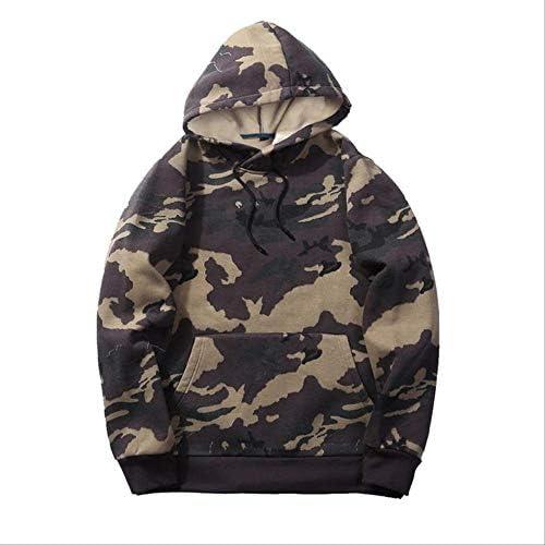 MNBV Sweatshirt Tarnungs-Kapuzenpulli-Sweatshirt-Männlicher Camo Hoody-Herbst-Winter-Vlies-Militärhoodie L Khaki