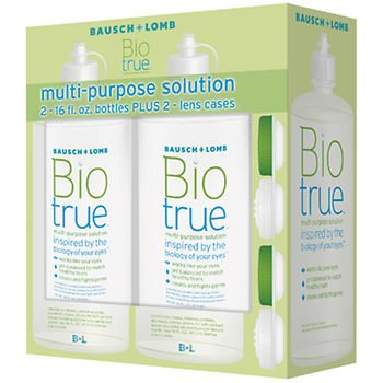 Bausch & Lomb Biotrue Multipurpose Solution 2 bottles of 16fl. oz. AS by American Standart