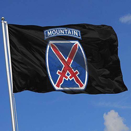 - TJHJOL US Army Retro 10th Mountain Division 3x5 Feet House Flag