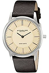 Stuhrling Original Men's 238.321K43 Ascot Newberry Analog Swiss Quartz Brown Leather Watch
